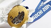 Олимпиада в Сочи, обои для рабочего стола - Золотая медаль