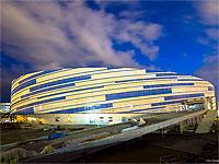 Ледовая арена Шайба в процессе строительства