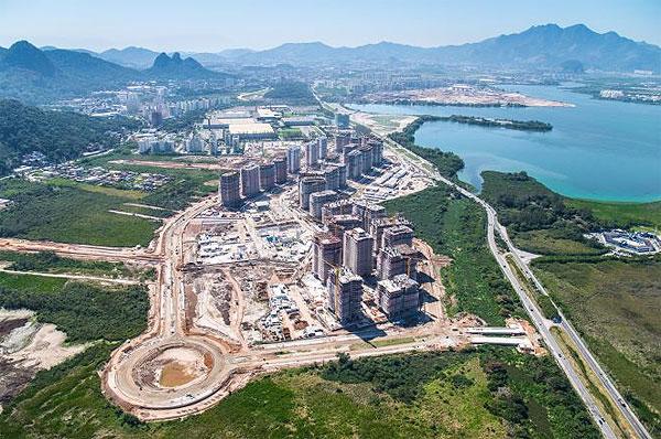 Строительство олимпийской деревни в Рио, вид сверху