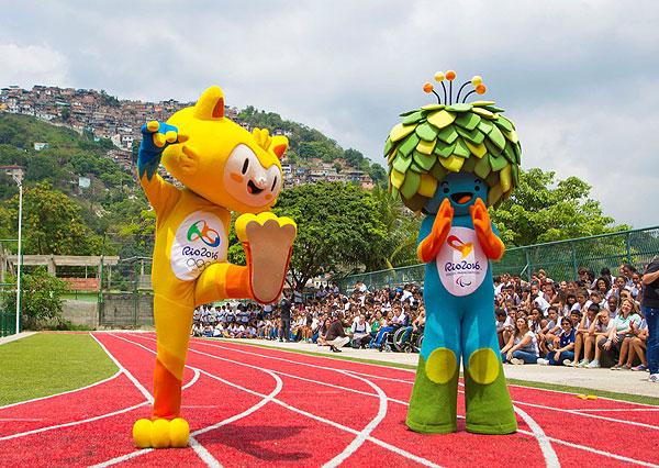 Представление талисманов предстоящей олимпиады школьникам