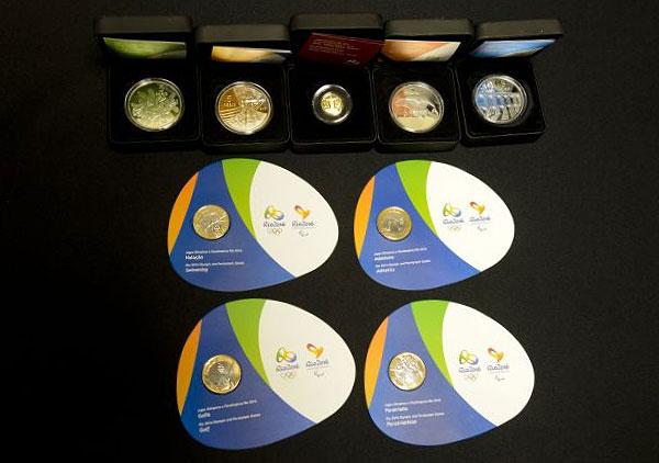 Памятные монеты, выпущенные к олимпиаде в Рио 2016